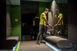 Specjalna wykładzina w klinice Enel-Sport na Stadionie Legii