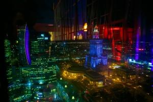 Panorama Sky Bar na 40. piętrze hotelu Marriott. Projekt wart docenienia