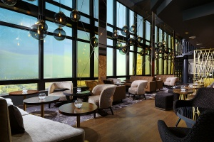 Panorama Sky Bar na 40. piętrze hotelu Marriott od Kaczmarek Studio