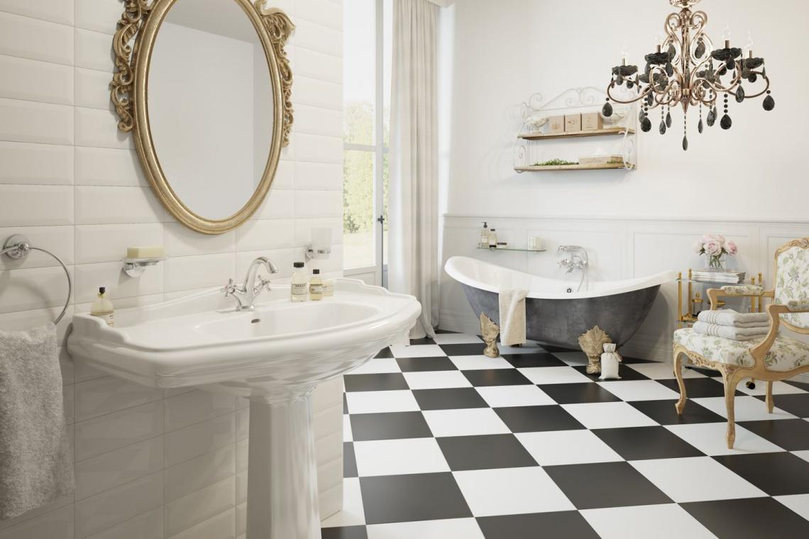 Pomysł na łazienkę w stylu glamour