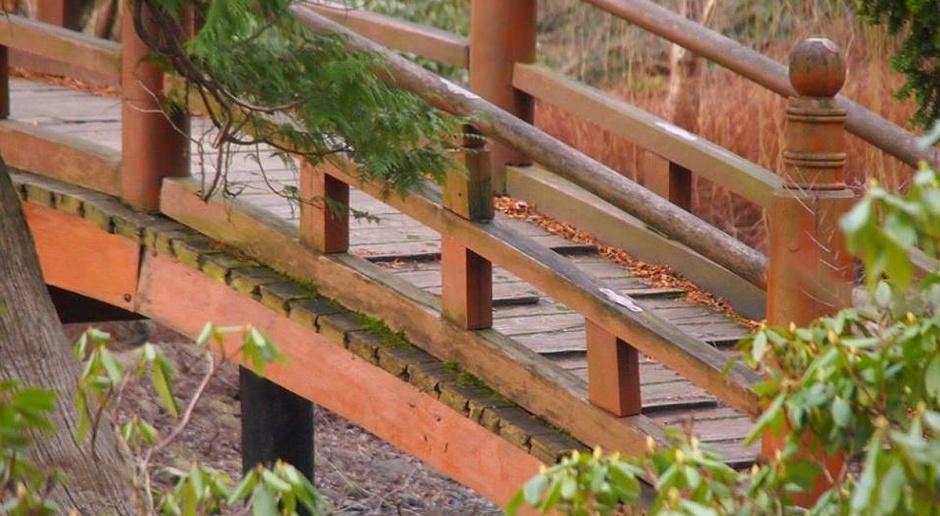 Zabytkowy mostek we wrocławskim Ogrodzie Japońskim jak nowy