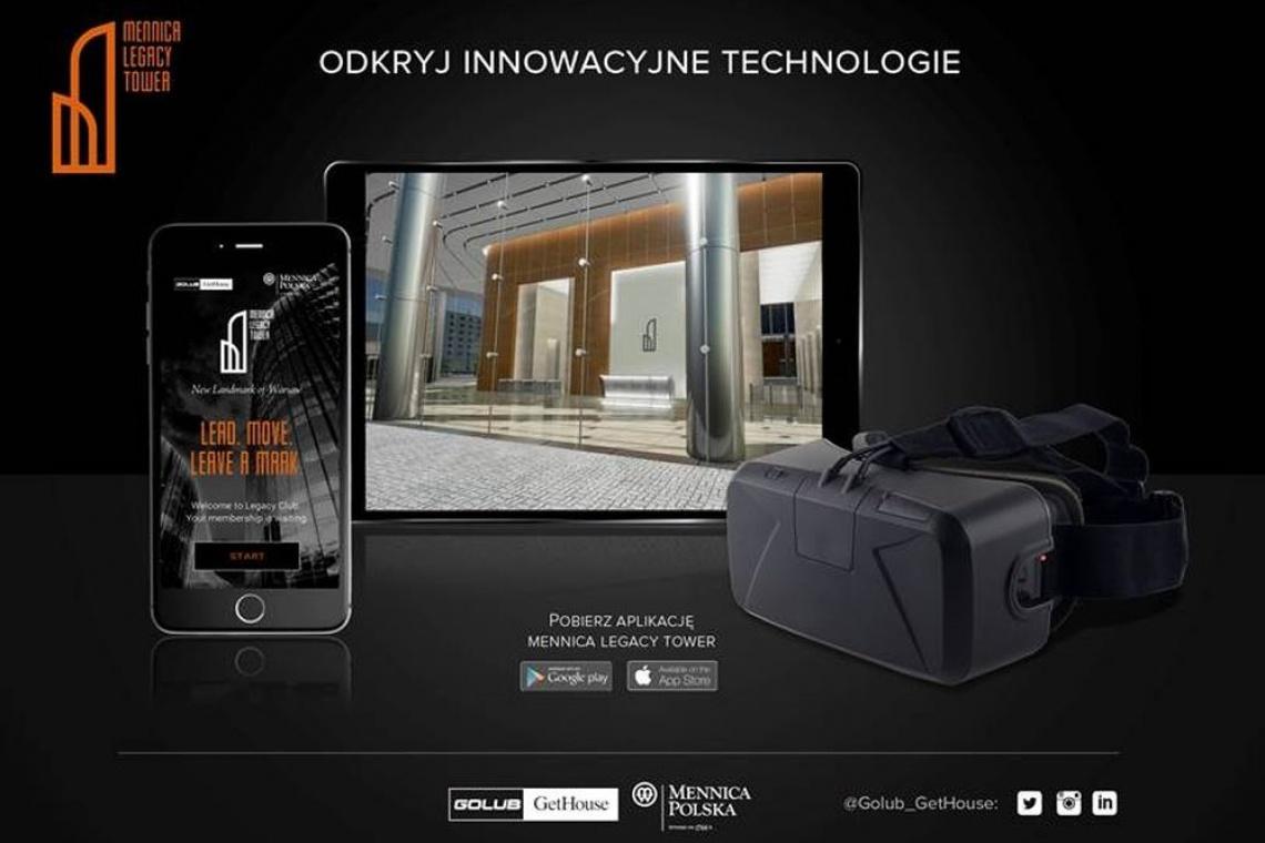 Odkryj Mennica Legacy Tower przez gogle VR
