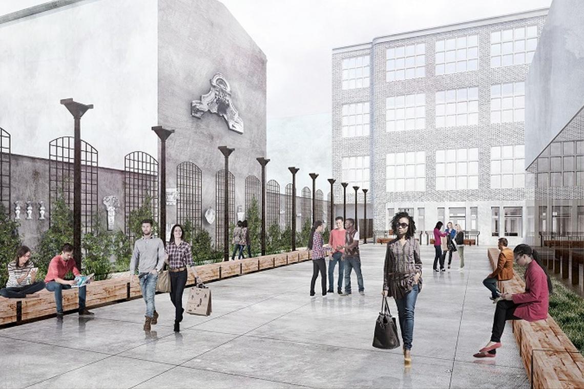 Lapidarium detalu architektonicznego i pasaż dla wszystkich. Wykonawca już na placu budowy