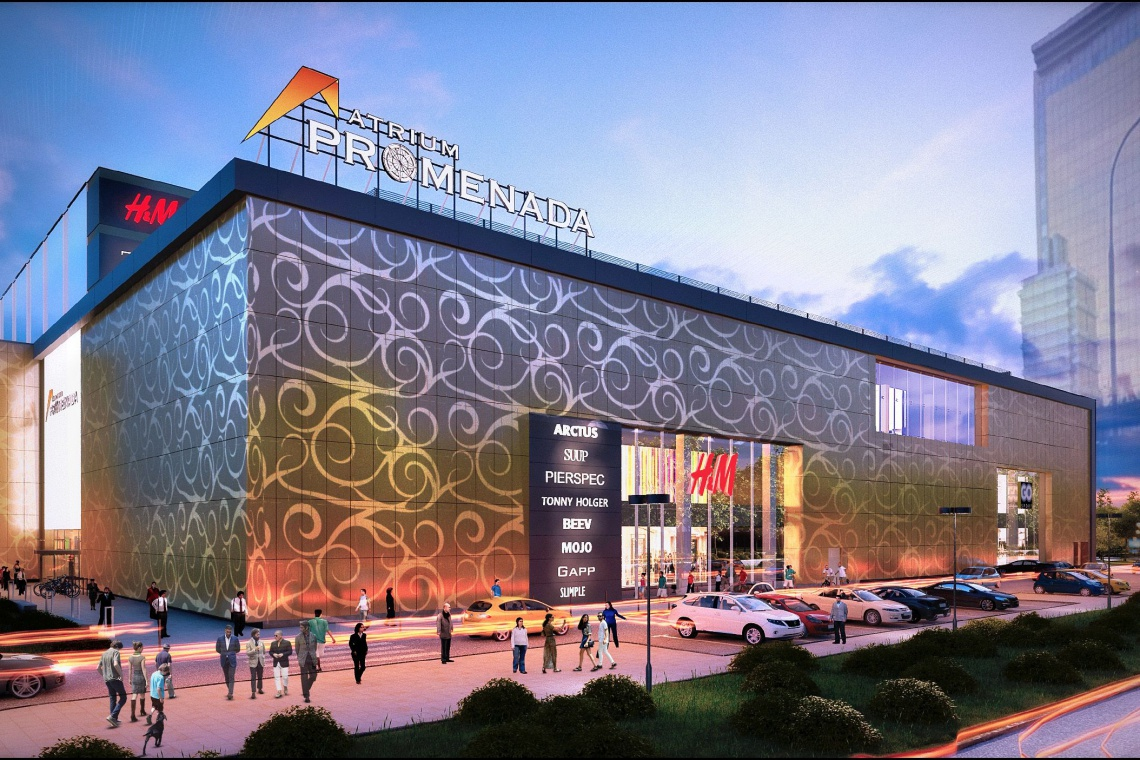 Atrium Promenada z designerską fasadą
