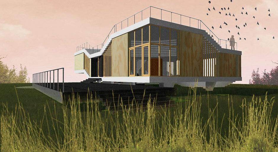 S.LAB architektura zaprojektowali dom - latający dywan