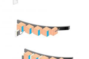 Geometryczne wnętrze w 3D, czyli cegła w roli głównej w Espriss Café