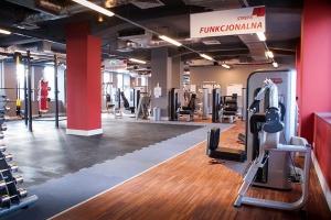 Wnętrze dla klubu fitness - nowoczesne i kolorowe