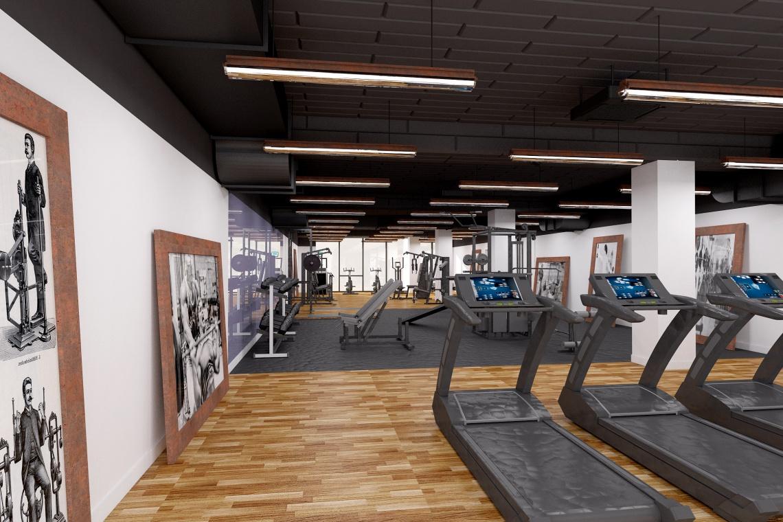 Klub fitness w stylu vintage