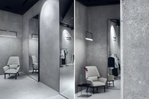 Niezwykle minimalistyczny butik