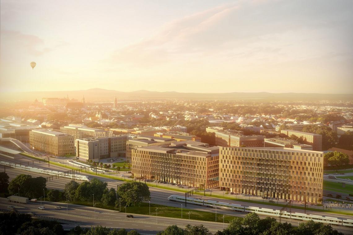 High Five będzie architektoniczną bramą do serca Krakowa