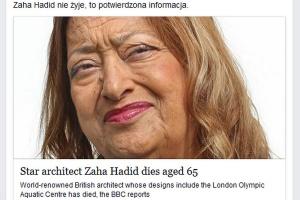 Jak znani architekci żegnają Zahę Hadid