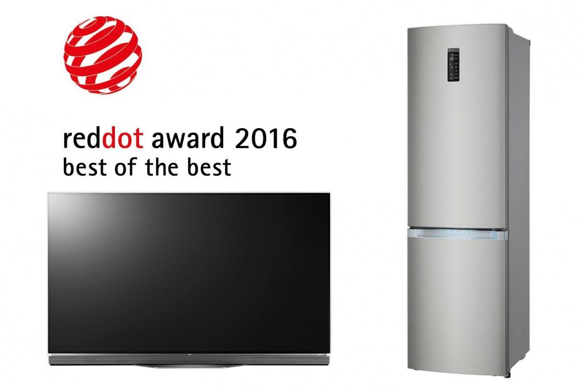 Marka LG z 32 nagrodami w konkursie Red Dot Awards 2016