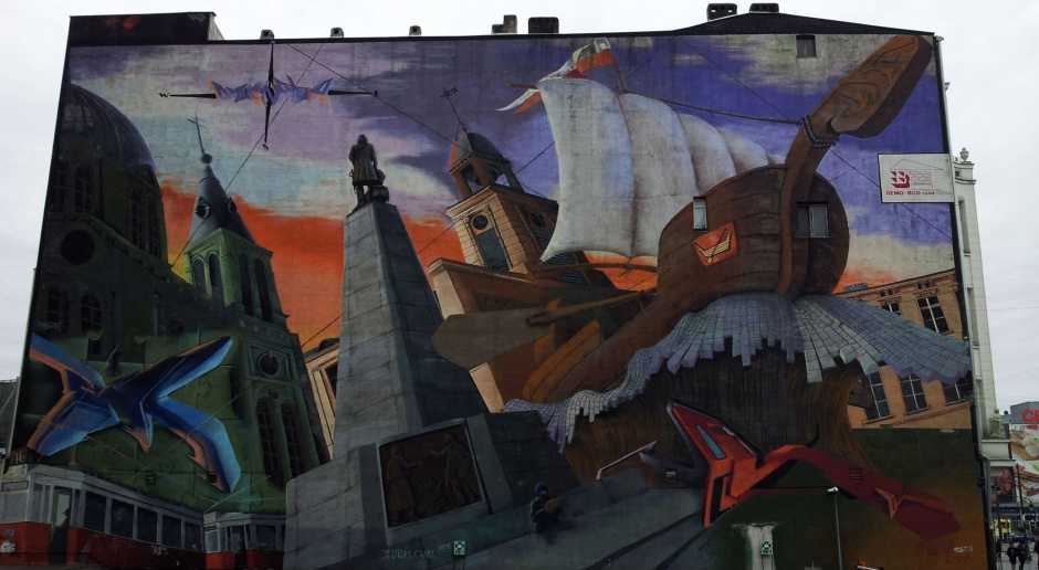 Kolejny mural w Łodzi. Inspiracją książka Kosińskiego