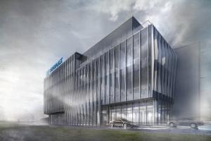 Odważny projekt biurowca dla firmy Oknoplast