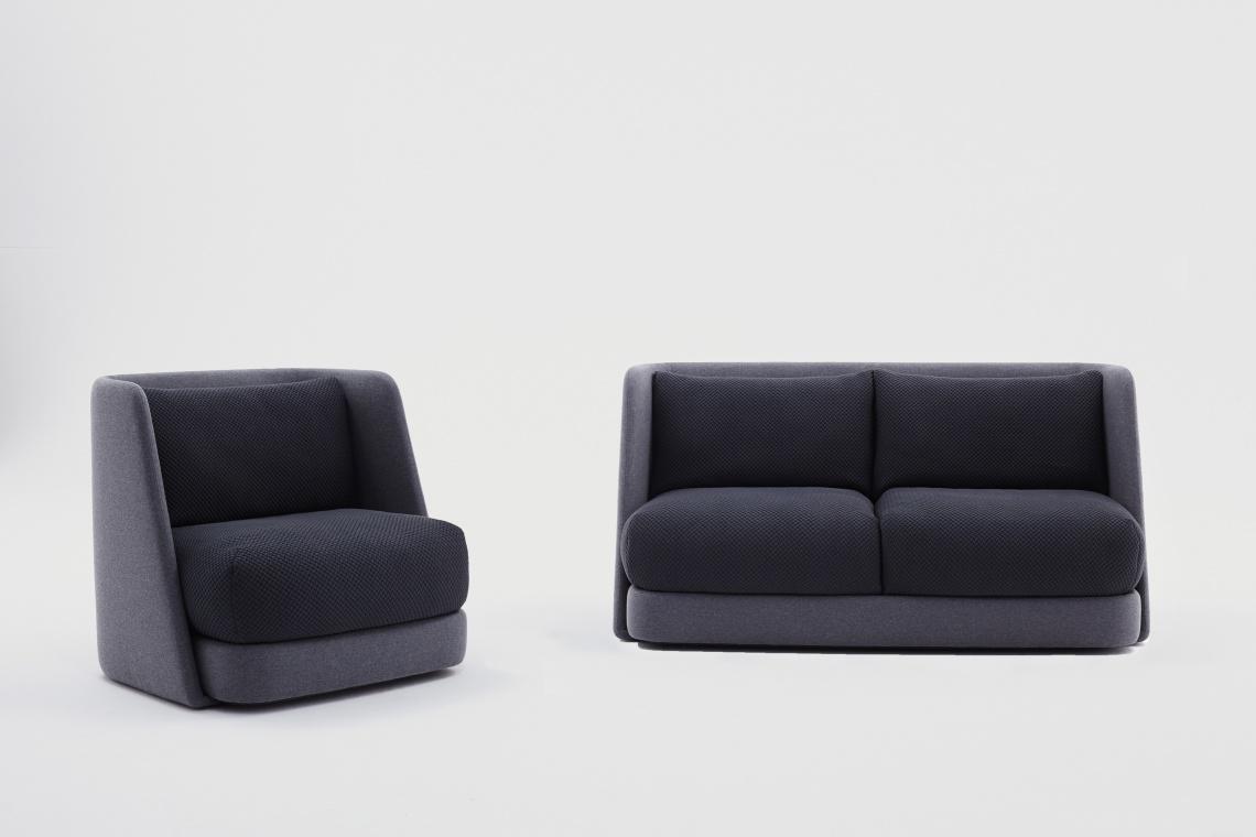 Sofa i fotel od Mai Ganszyniec daje poczucie... wyciszenia