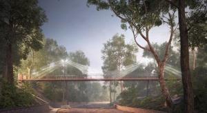Nowa kładka piesza o ciekawej architekturze w Sopocie