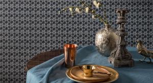 Stara japońska technika barwienia tkanin inspiracją dla tapet
