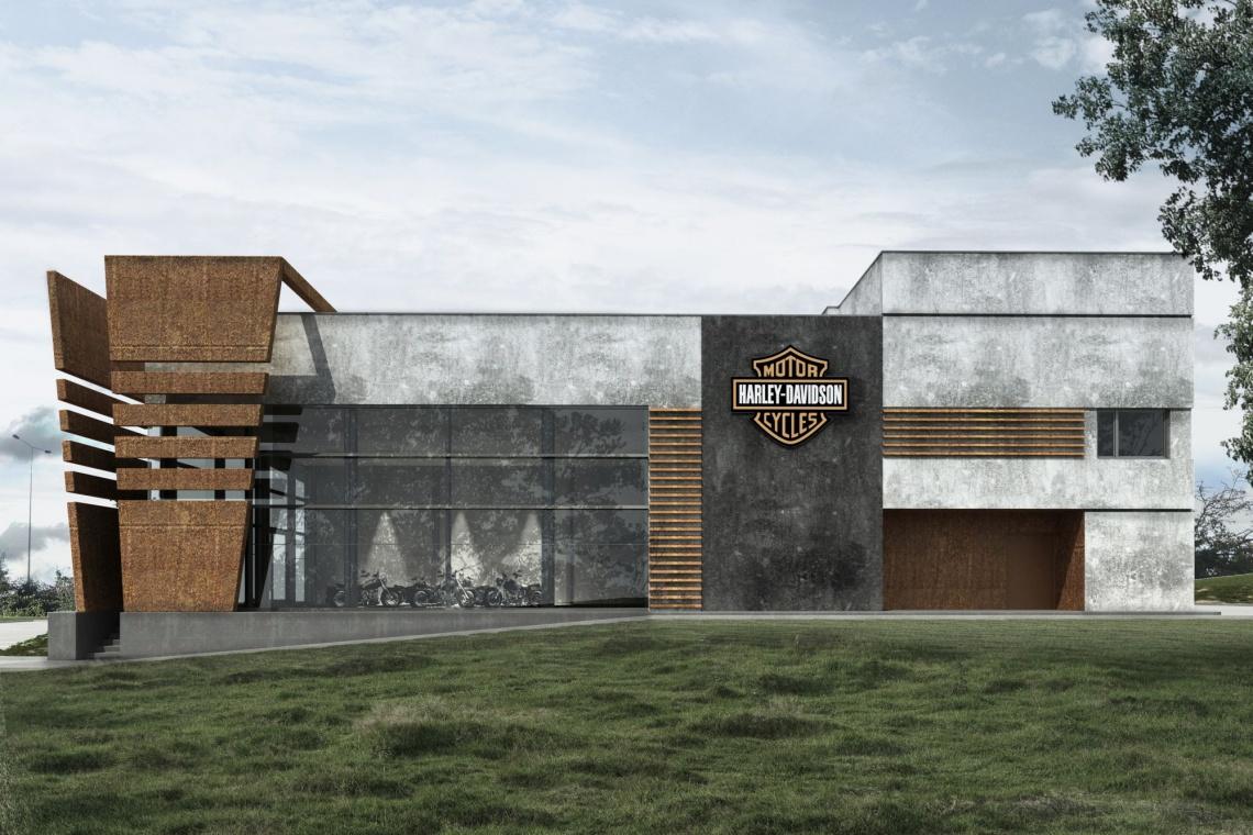 Tak będzie wyglądał salon Harley Davidson. To pierwszy salon marki na wschodzie Polski