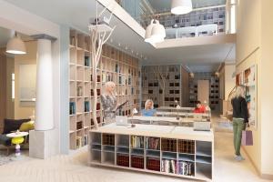 Tak będzie wyglądała biblioteka na dworcu we Władysławowie. To projekt Sikora Wnętrza