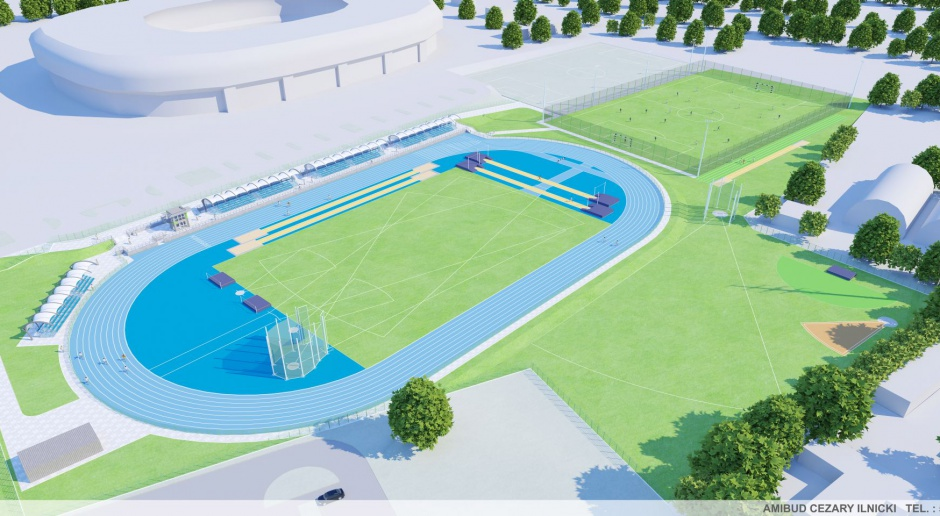 Arena lekkoatletyczna w Tychach z prawdziwego zdarzenia
