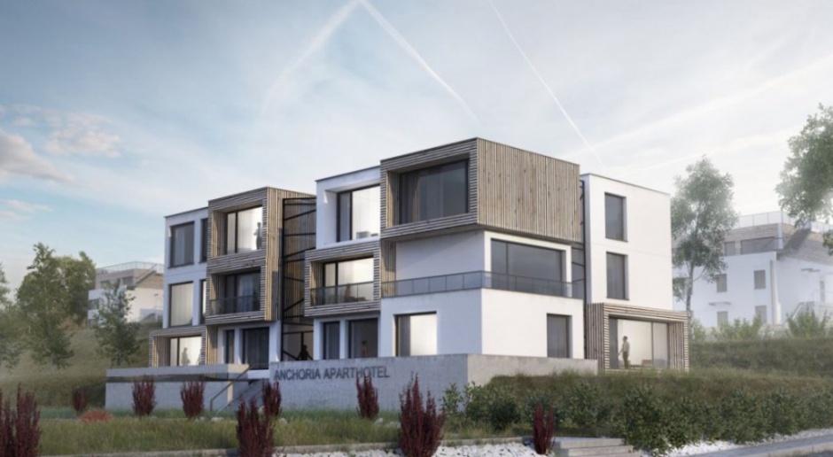 Aparthotel, który otwiera wnętrze na Bałtyk