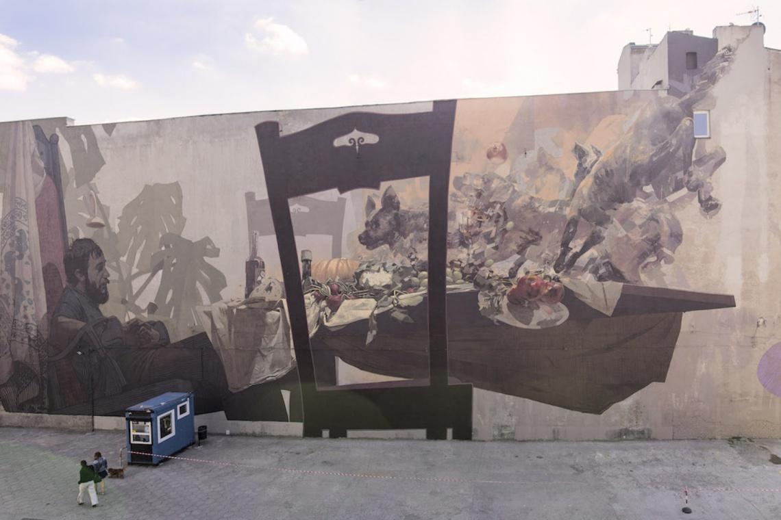 Osiem dni i takie efekty! Nowy mural grupy Etam Cru i Roberta Procha przy OFF Piotrkowska