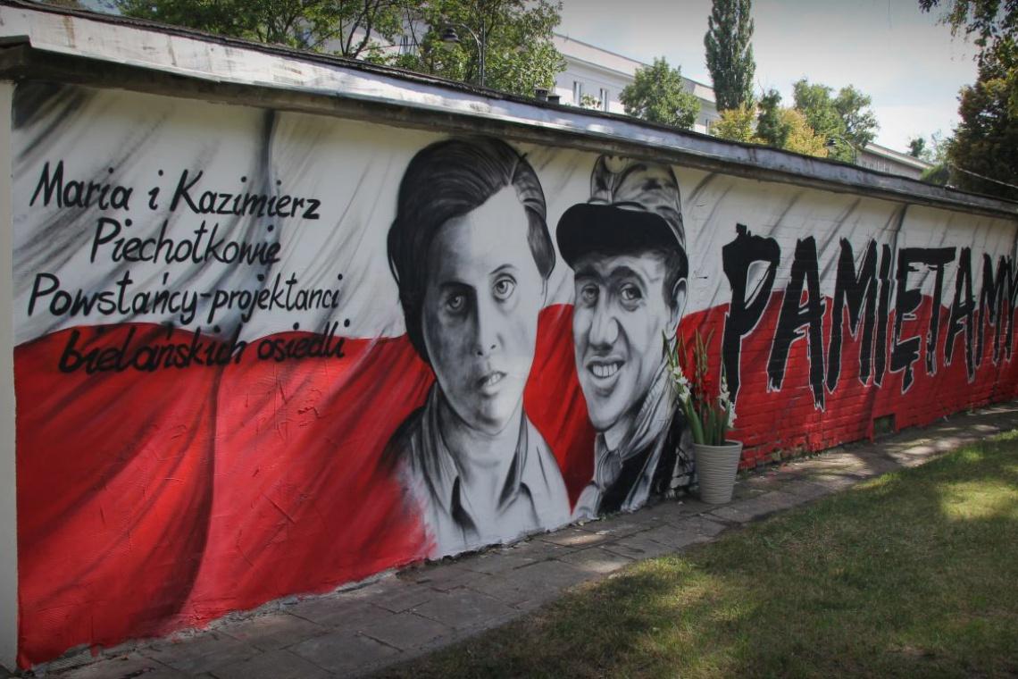 Mural dla powstańców-architektów
