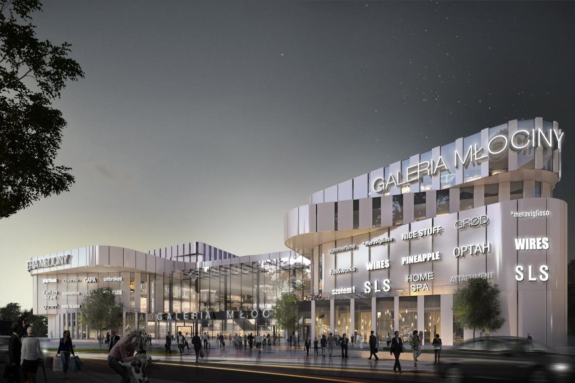 Plac budowy Galerii Młociny wkrótce ożyje. To projekt Kuryłowicz & Associates i Chapman Taylor