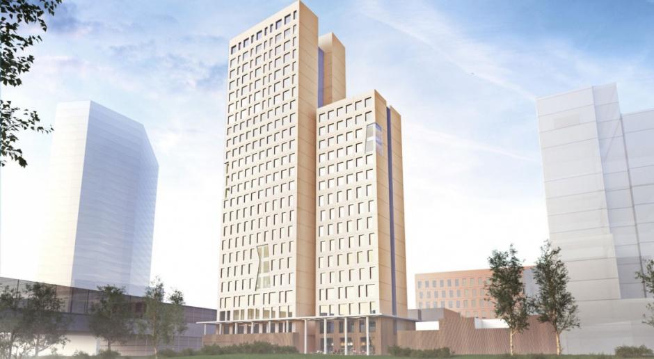 Najwyższy budynek z drewna na finiszu