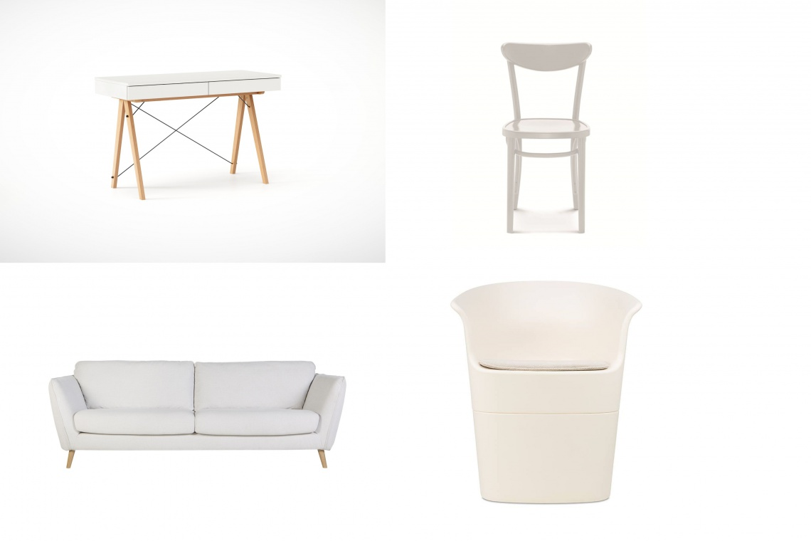 TOP 10: Białe meble we wnętrzach