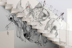 Zobacz niezwykłe grafiki ścienne. To fascynująca podróż utkana z artystycznych wizji