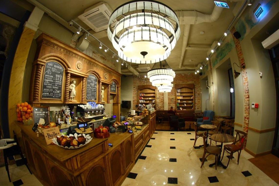 Oto flagowa kawiarnia Green Caffè Nero w Warszawie
