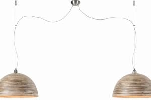 Miks lamp we wnętrzu, czyli oprawy z kory brzozy i ażurowego metalu