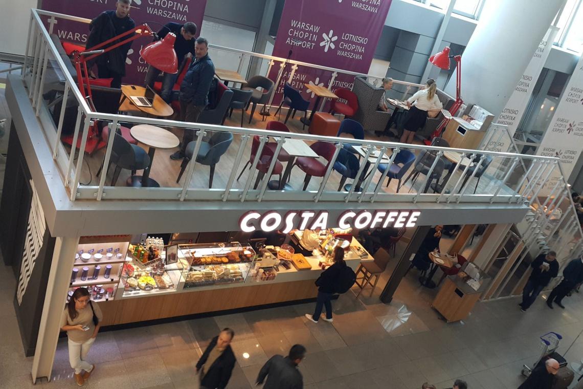Costa Coffee lubi warszawskie lotnisko i zapowiada nowy format