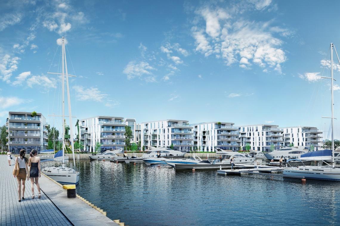 Yacht Park projektu Arch Deco z pozwoleniem na budowę