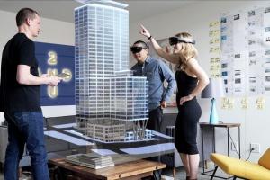 Skanska zakłada cyberokulary HoloLens. Hologram kompleksu Generation Park w przygotowaniu