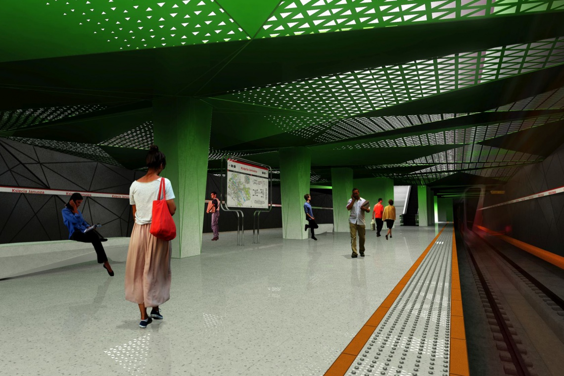 Warszawa z całą drugą linią metra