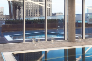 Zjawiskowa strefa SPA w wieżowcu spod kreski Daniela Libeskinda