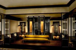 Designerskie wnętrza w znanym hotelu