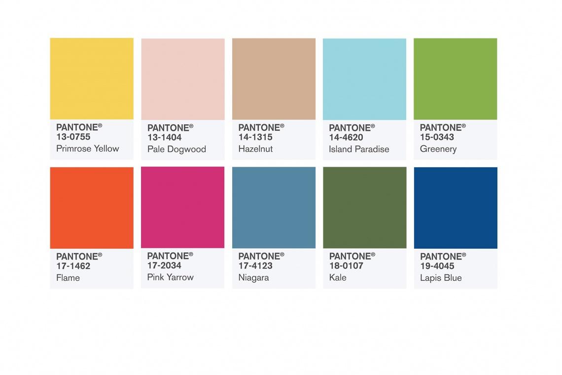 TOP 10 kolorów na wiosnę 2017 według Pantone