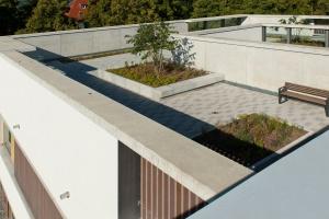 Ogród na dachu z widokiem na Jezioro Bodeńskie