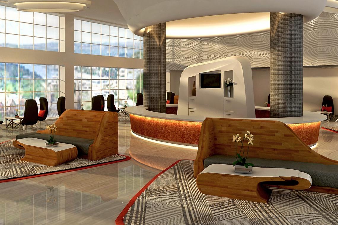 Lobby w orientalnym stylu