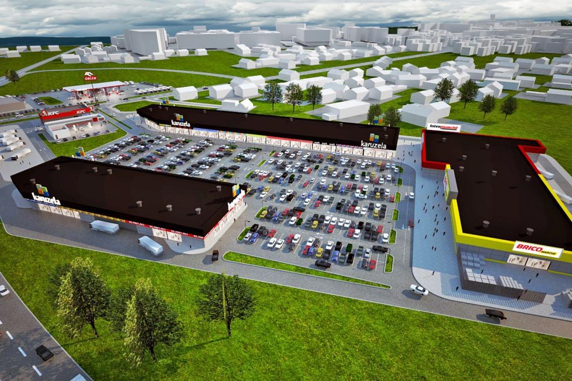 Nowy park handlowy w Świebodzinie według koncepcji Bose International