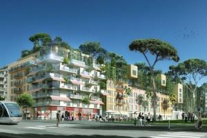 Dawny stadion piłkarski oazą zieleni w Nicei