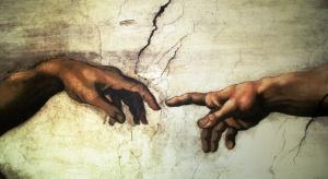 Reprodukcje fresków Michała Anioła z Kaplicy Sykstyńskiej na wrocławskim Ostrowie Tumskim