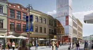 Trwa budowa hotelu spod kreski Bulanda, Mucha Architekci - już widać konstrukcję