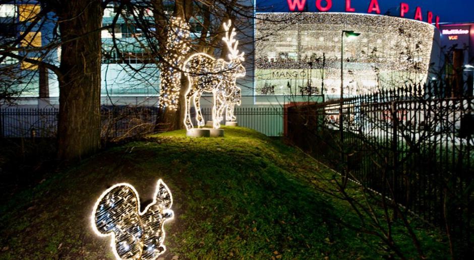 Wola Park rozświetlony 225 tysiącami lampek