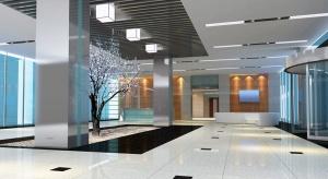 Dekoracyjne i użytkowe oświetlenie nowoczesnego hotelu