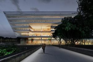 Zjawiskowa biblioteka w centrum chińskiego ogrodu
