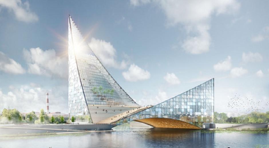 Centrum kongresowe jak ptak wznoszący się nad rzeką